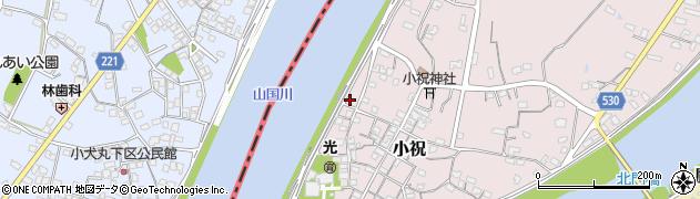 大分県中津市小祝270周辺の地図