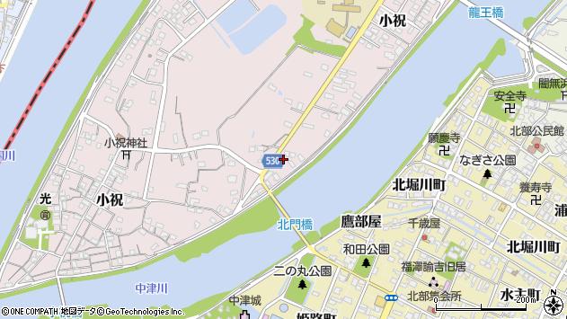 大分県中津市小祝417周辺の地図