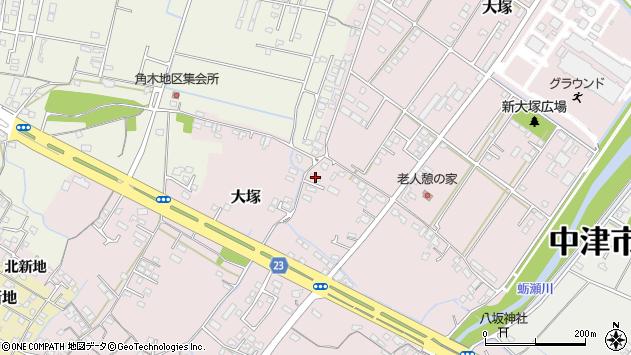 大分県中津市大塚341周辺の地図