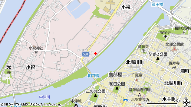 大分県中津市小祝377周辺の地図