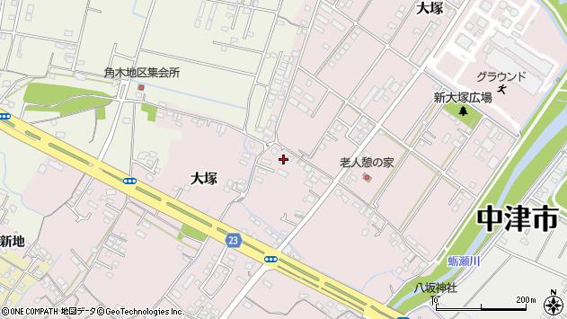 大分県中津市大塚620周辺の地図