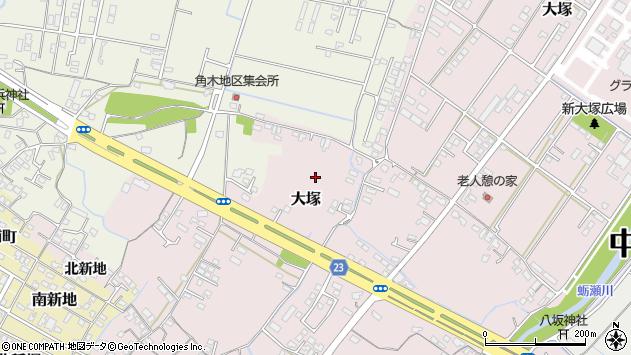 大分県中津市大塚新大塚町周辺の地図