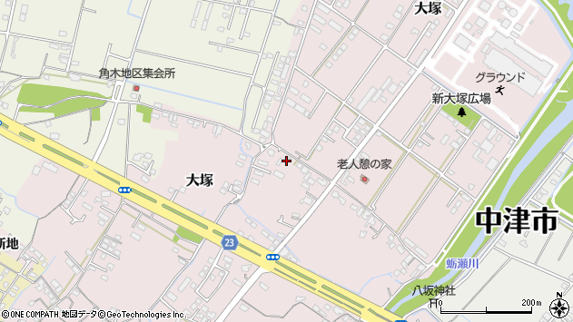 大分県中津市大塚619周辺の地図