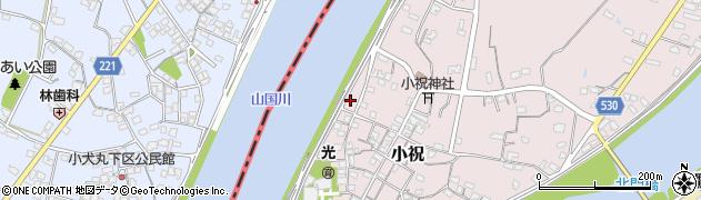 大分県中津市小祝269周辺の地図