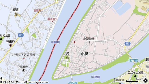 大分県中津市小祝277周辺の地図