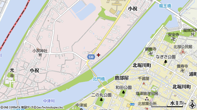 大分県中津市小祝416周辺の地図