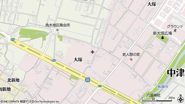 大分県中津市大塚332周辺の地図