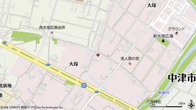 大分県中津市大塚622周辺の地図