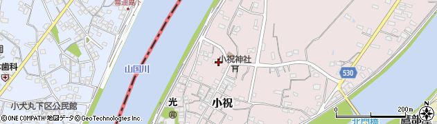 大分県中津市小祝510周辺の地図