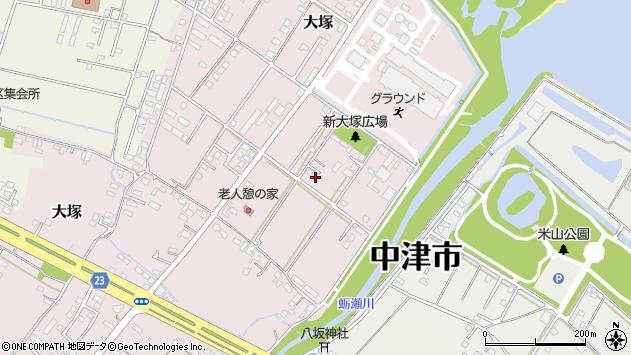 大分県中津市大塚705周辺の地図