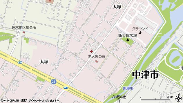 大分県中津市大塚780周辺の地図