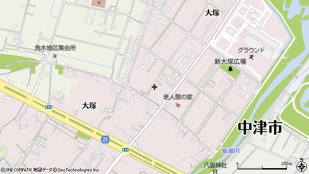 大分県中津市大塚783周辺の地図