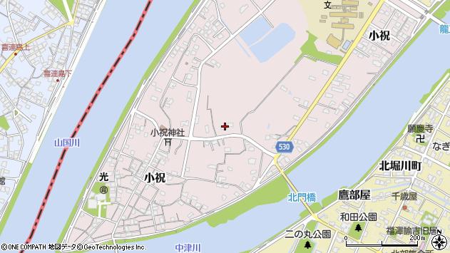 大分県中津市小祝465周辺の地図
