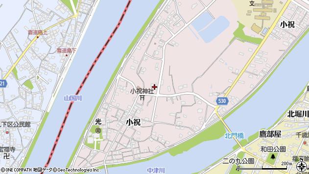 大分県中津市小祝638周辺の地図