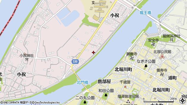 大分県中津市小祝381周辺の地図
