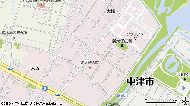 大分県中津市大塚725周辺の地図