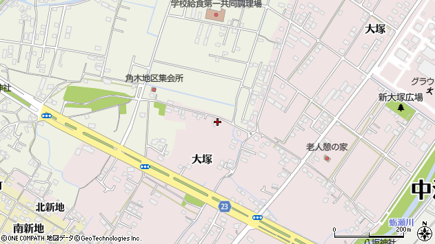大分県中津市大塚630周辺の地図
