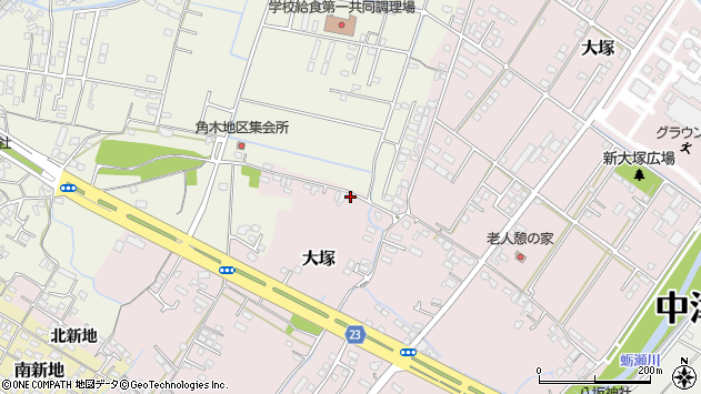 大分県中津市大塚629周辺の地図