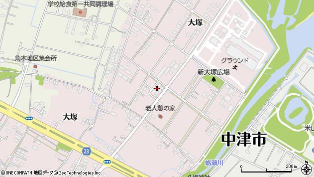 大分県中津市大塚779周辺の地図