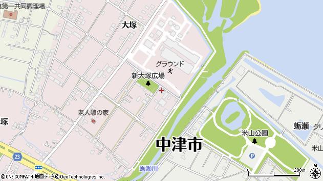 大分県中津市大塚671周辺の地図