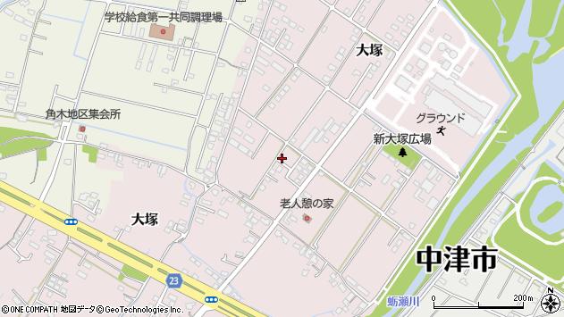 大分県中津市大塚778周辺の地図