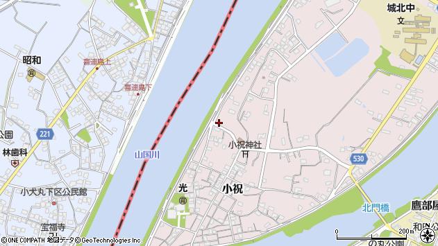 大分県中津市小祝518周辺の地図