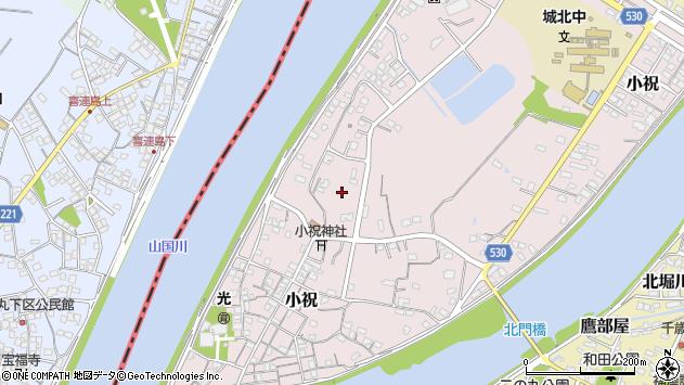 大分県中津市小祝651周辺の地図
