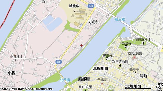 大分県中津市小祝386周辺の地図