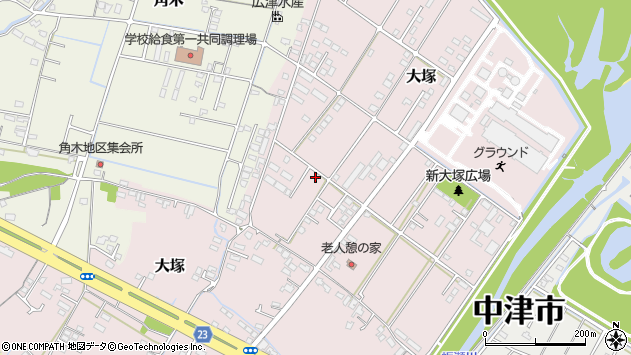 大分県中津市大塚794周辺の地図