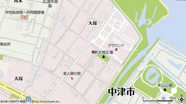 大分県中津市大塚729周辺の地図