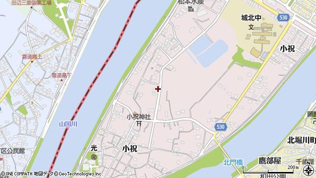 大分県中津市小祝627周辺の地図