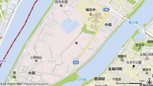 大分県中津市小祝450周辺の地図