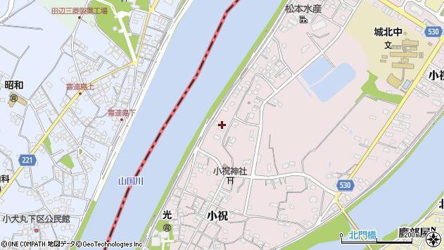 大分県中津市小祝521周辺の地図