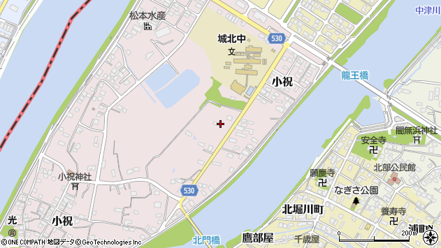大分県中津市小祝438周辺の地図