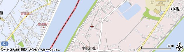 大分県中津市小祝港町周辺の地図