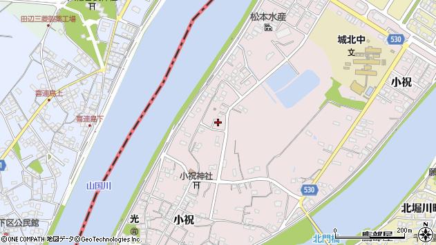 大分県中津市小祝621周辺の地図