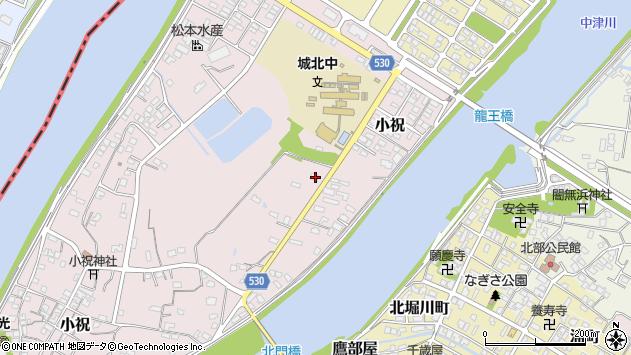 大分県中津市小祝440周辺の地図