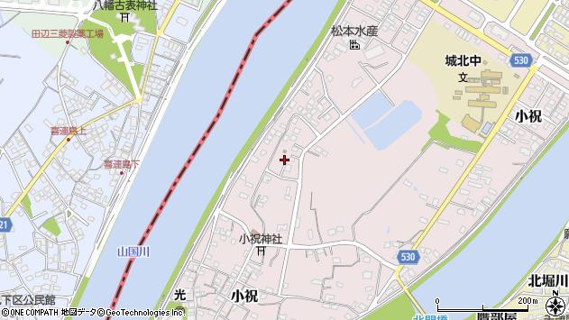 大分県中津市小祝615周辺の地図