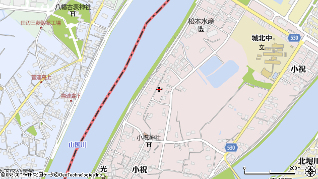 大分県中津市小祝565周辺の地図