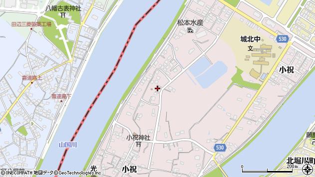 大分県中津市小祝614周辺の地図