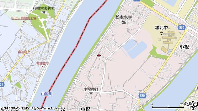 大分県中津市小祝616周辺の地図