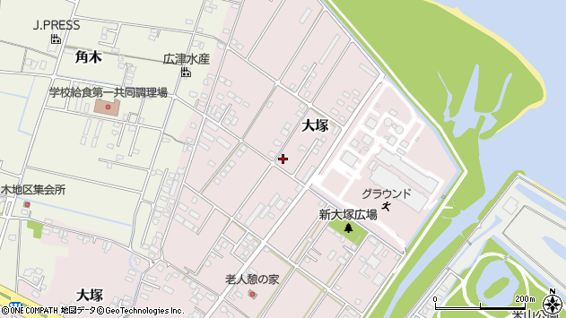 大分県中津市大塚754周辺の地図