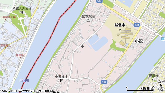 大分県中津市小祝594周辺の地図