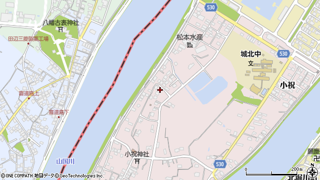 大分県中津市小祝546周辺の地図