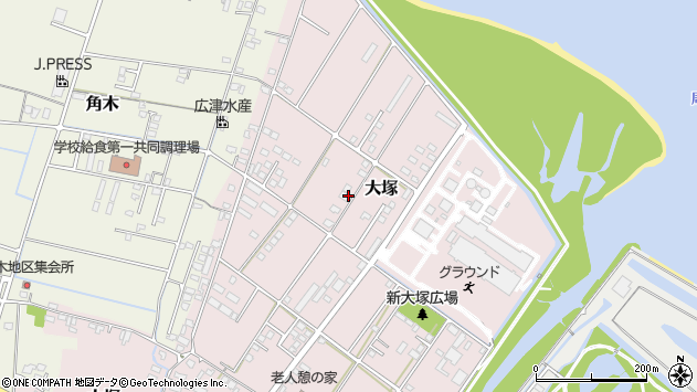 大分県中津市大塚810周辺の地図