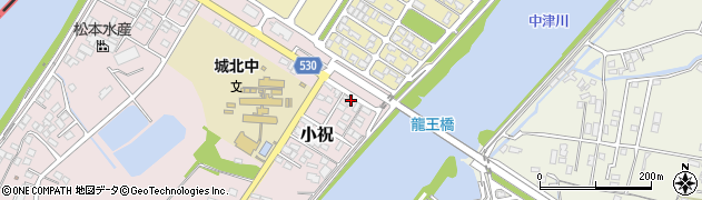 大分県中津市小祝392周辺の地図