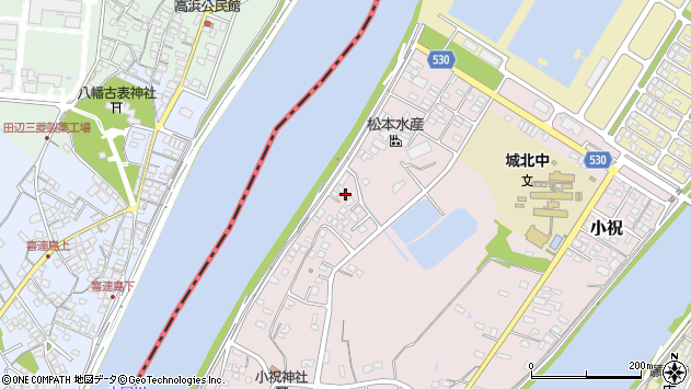大分県中津市小祝525周辺の地図