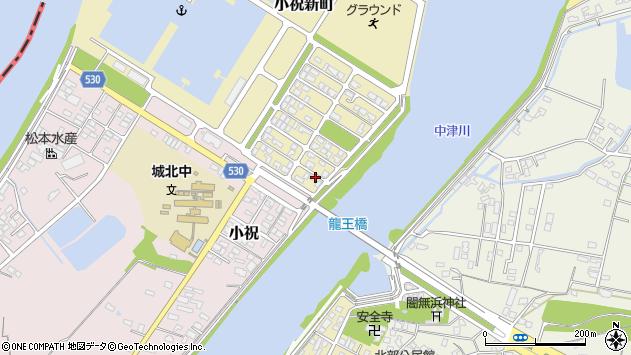大分県中津市小祝新町92周辺の地図