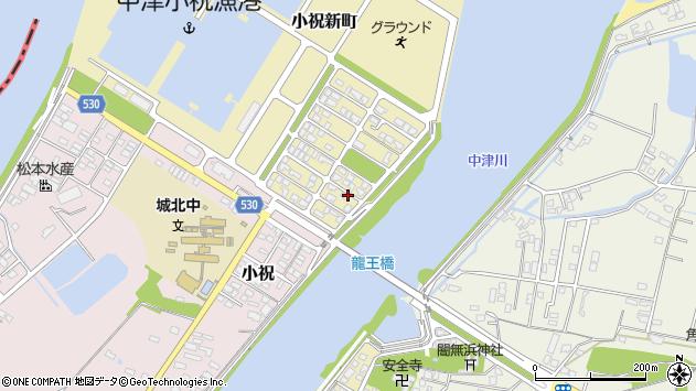 大分県中津市小祝新町85周辺の地図