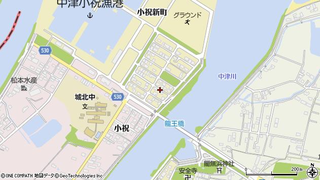 大分県中津市小祝新町86周辺の地図